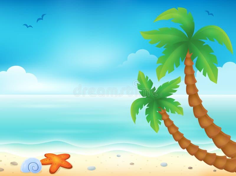 Image 7 de thème de plage illustration de vecteur