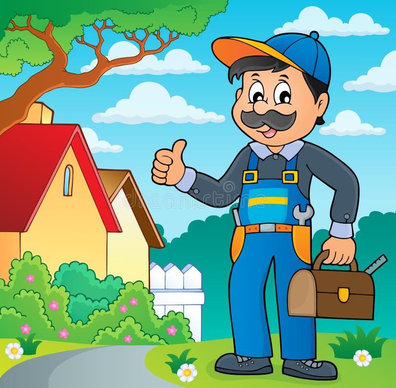 Image 2 de thème de plombier illustration de vecteur