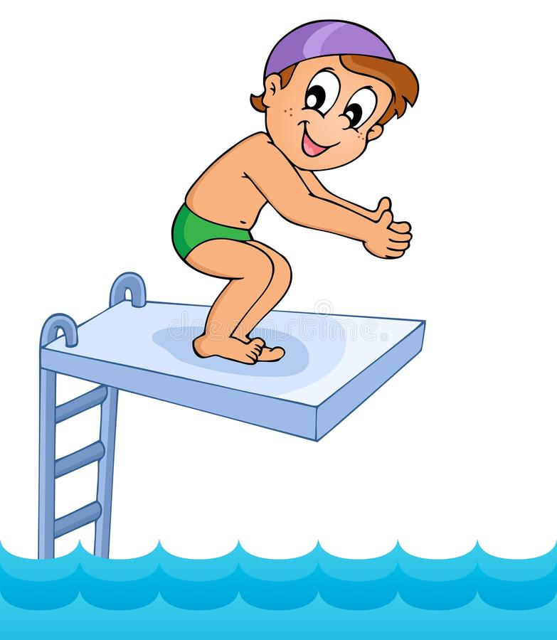 Image 8 de thème de sport aquatique illustration stock