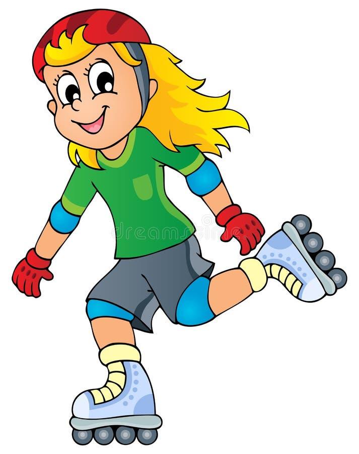 Image 1 de thème de sport en plein air illustration stock