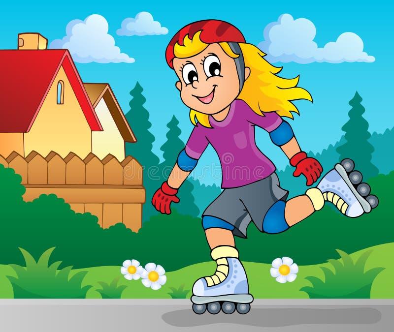 Image 2 de thème de sport en plein air illustration stock