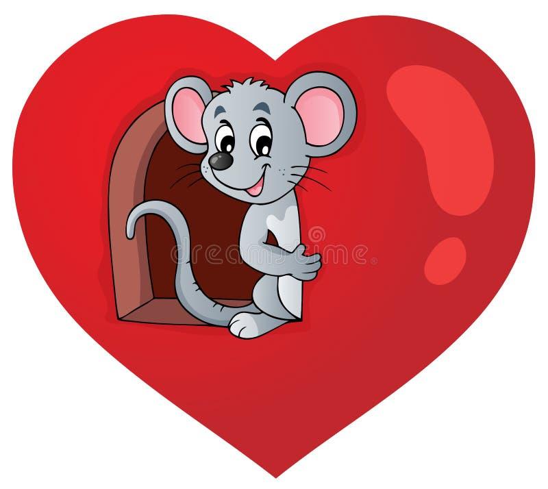 Image 3 de thème de Valentine illustration de vecteur