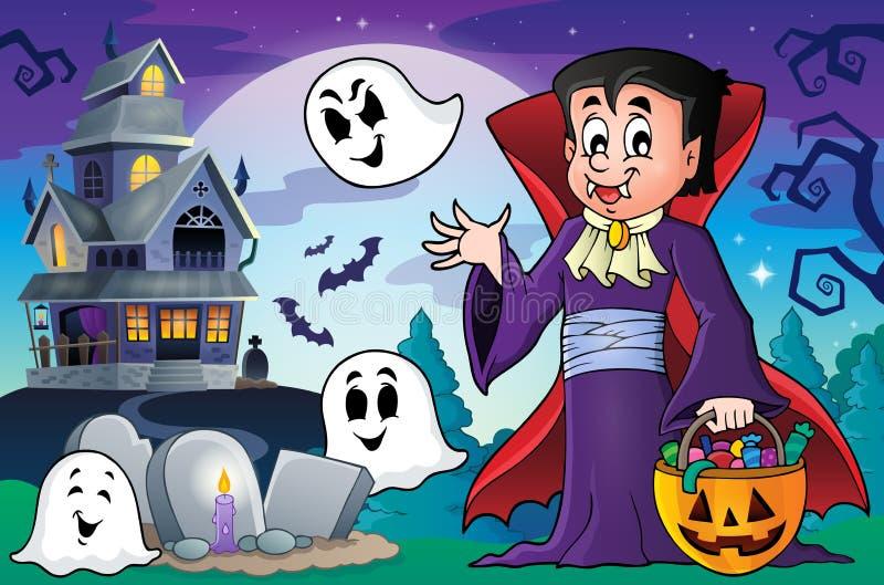 Image 5 de thème de vampire de Halloween illustration libre de droits