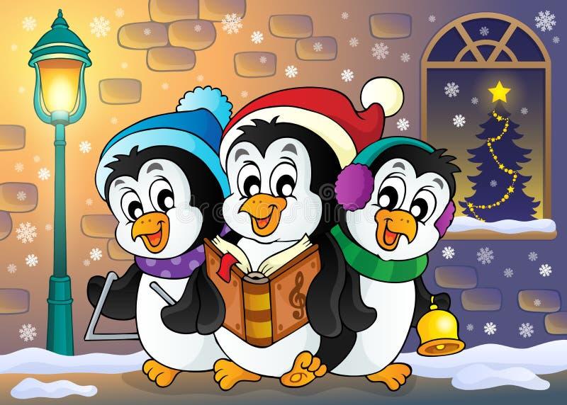 Image 5 de thème de pingouins de Noël illustration stock