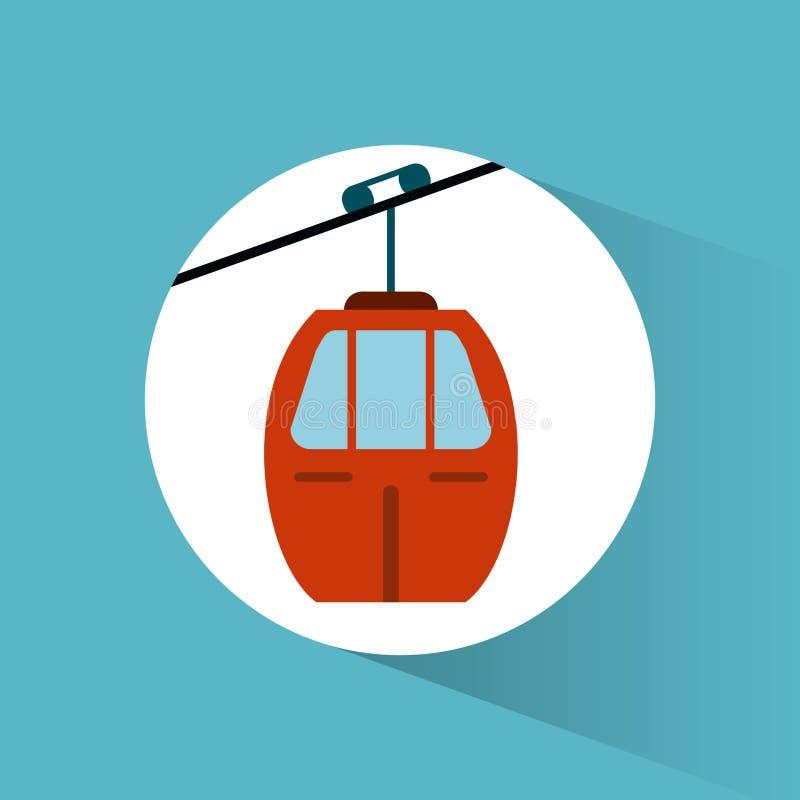 image de véhicule de transport de funiculaire de ciel illustration libre de droits