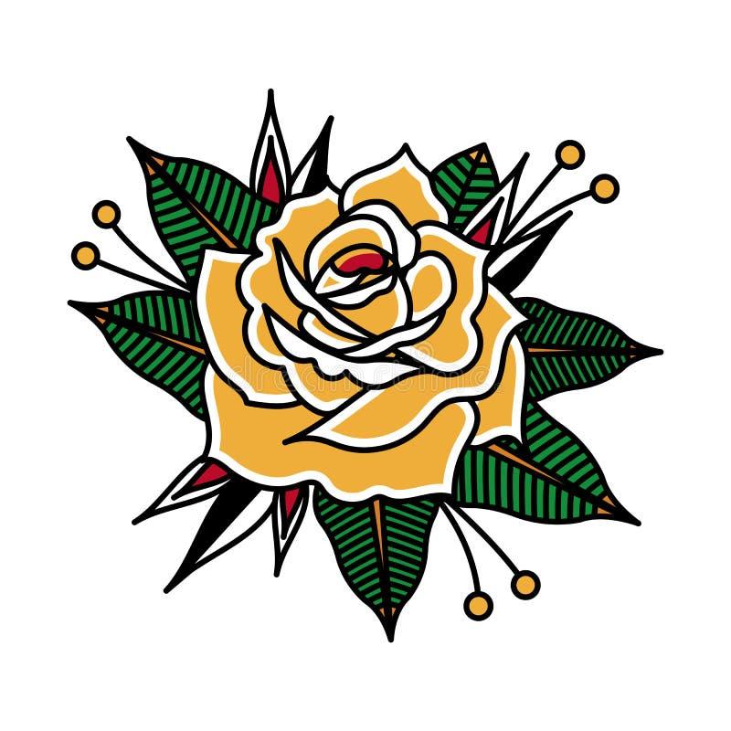 Image de vecteur de conception de tatouage de fleur illustration de vecteur