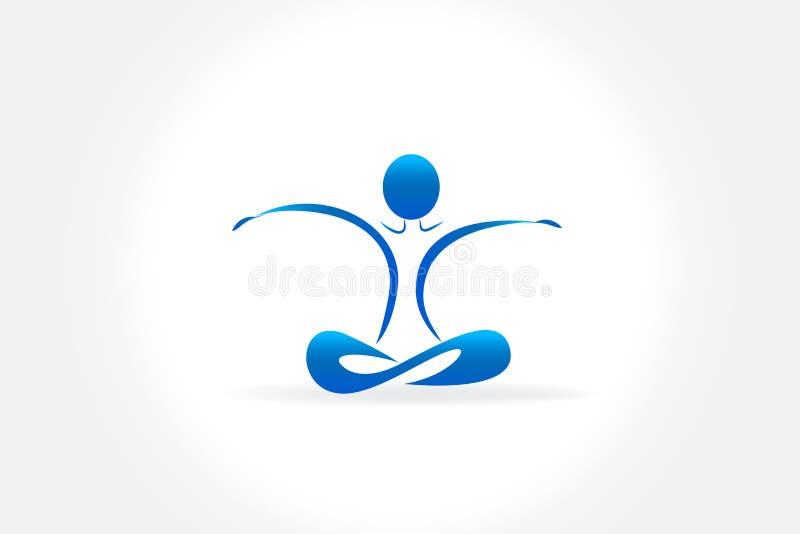 Image de vecteur d'homme de yoga de logo illustration stock