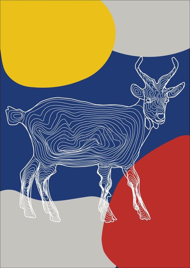 Image de vecteur d'un chaudron animal sur un fond coloré illustration de vecteur