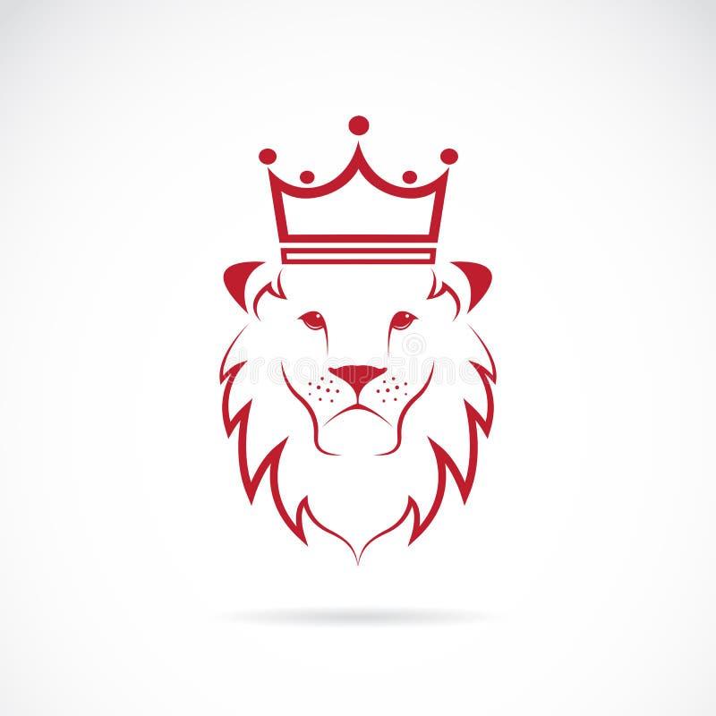 Image de vecteur d'un lion couronné illustration stock