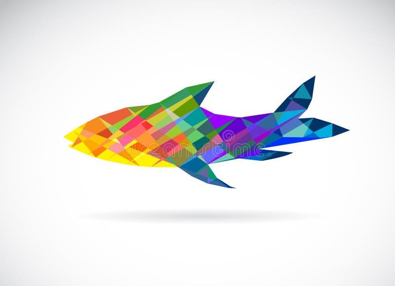 Image de vecteur d'un poisson polygonal illustration de vecteur