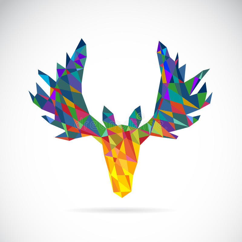 Image de vecteur d'une conception de tête de cerfs communs illustration de vecteur