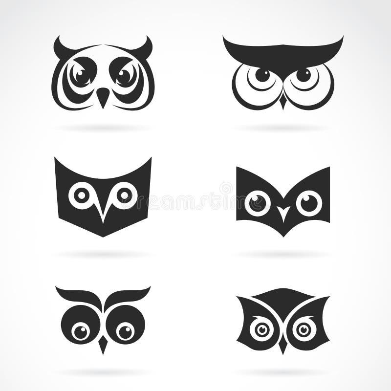 Image de vecteur d'une conception de visage de hibou illustration de vecteur