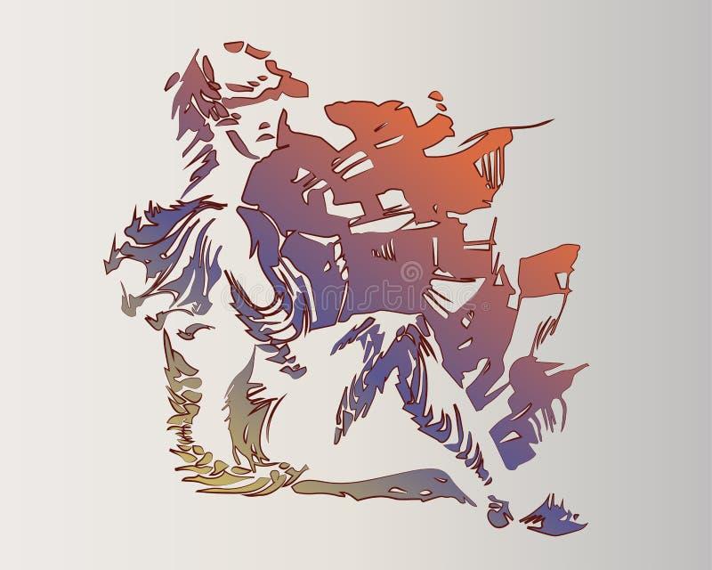 Image de vecteur d'une femme amphibie fantastique illustration de vecteur