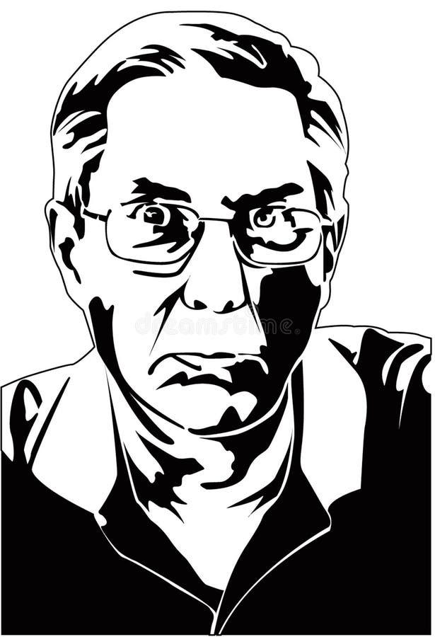 Image de vecteur de Rasterized illustration stock