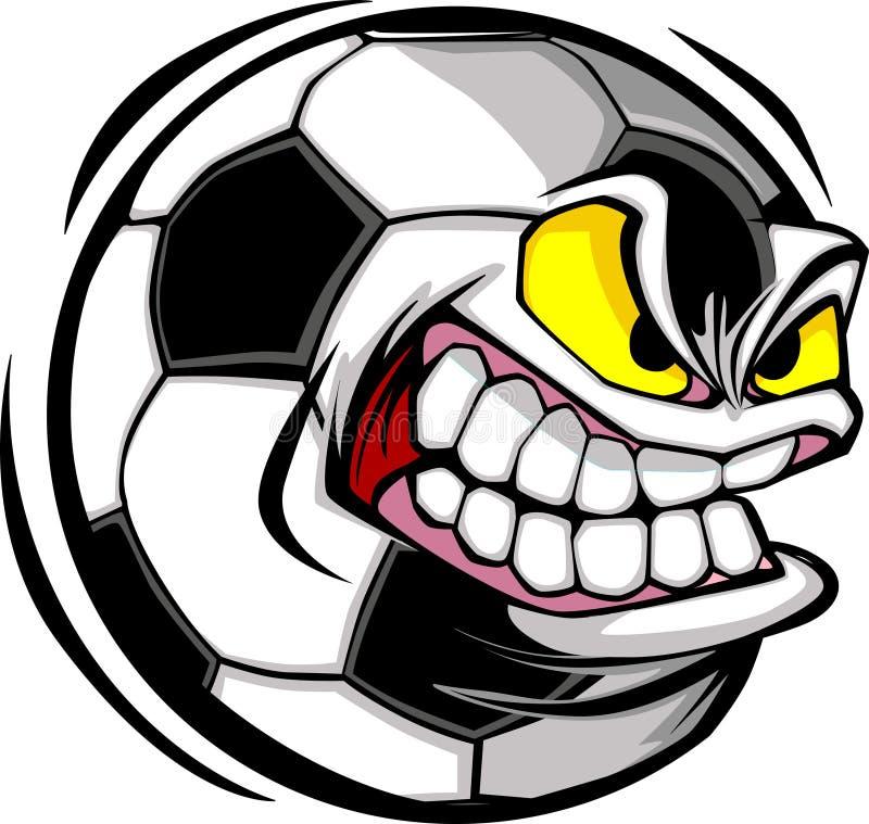 Image de vecteur de visage de bille de football illustration de vecteur