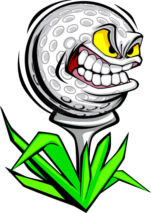 Image de vecteur de visage de bille de golf illustration stock