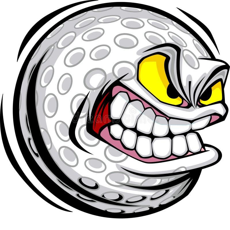 Image de vecteur de visage de bille de golf illustration stock