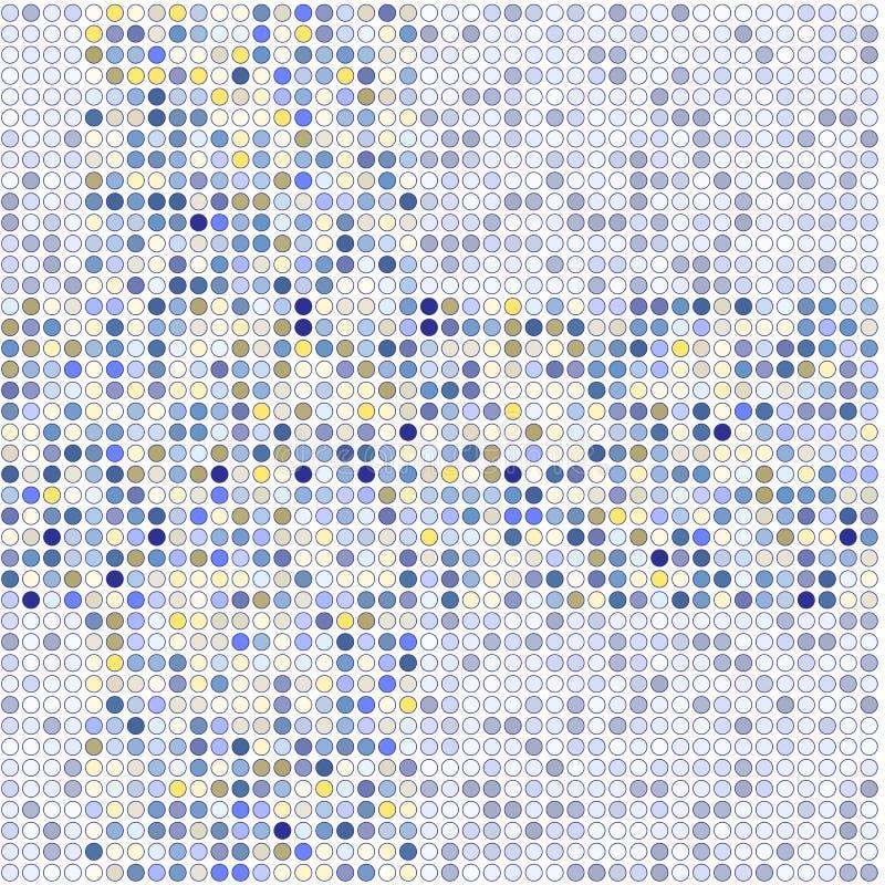 Image de vecteur des points bleus et jaunes sur un fond gris illustration libre de droits
