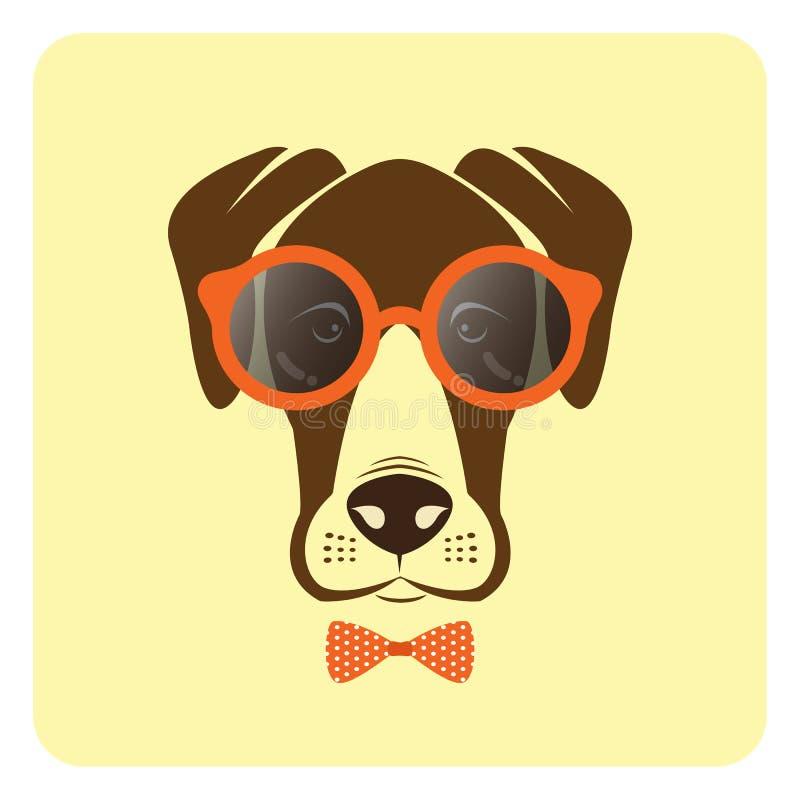 Image de vecteur des verres de port de chien illustration libre de droits