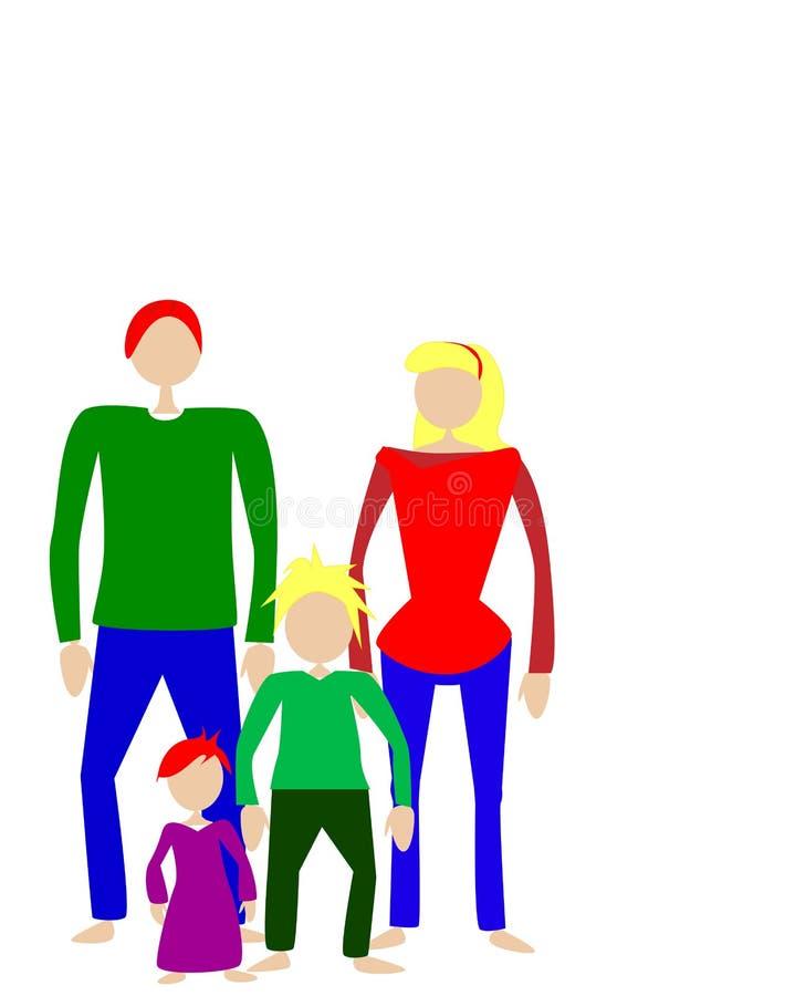 Image de vecteur de famille sur le fond blanc illustration de vecteur