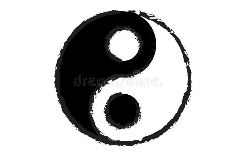 Image de vecteur montrant le symbole de yang de yin illustration stock