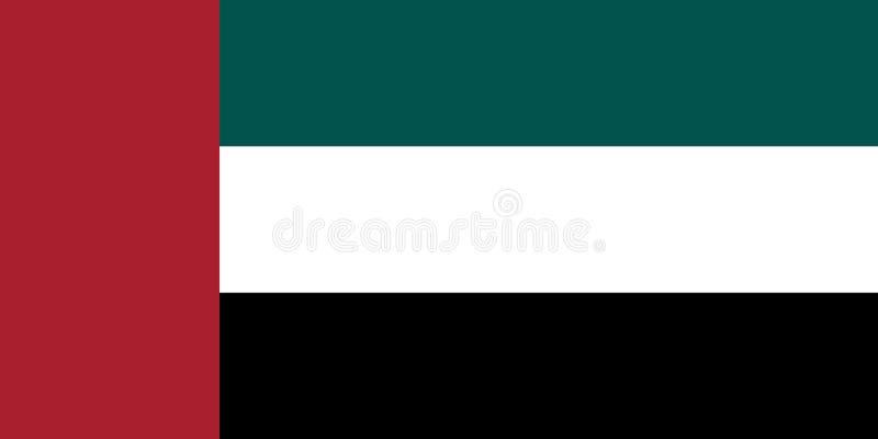 Image de vecteur pour le drapeau des EAU Basé sur le fonctionnaire et le drapeau précis des EAU illustration de vecteur