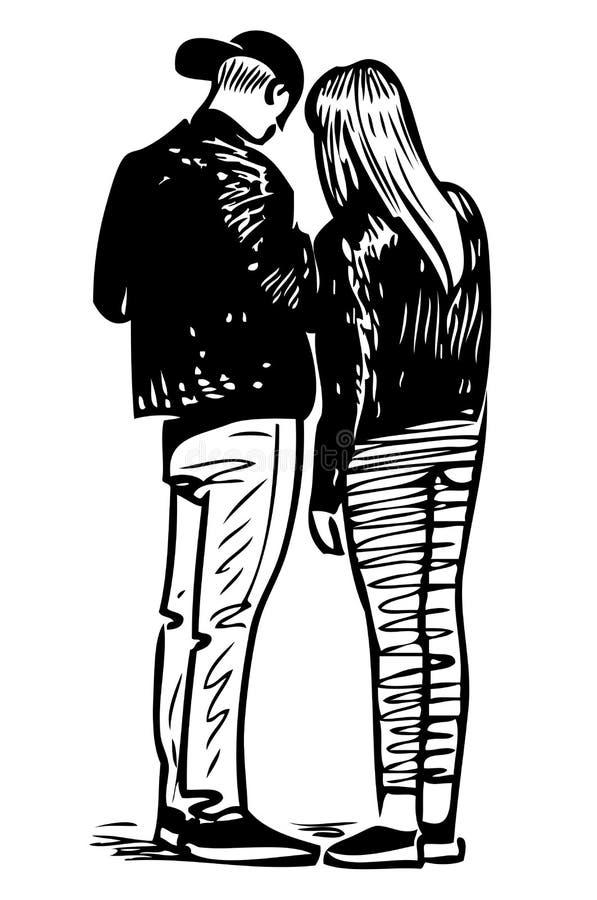 Image de vecteur de quelques jeunes citadins illustration libre de droits