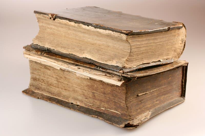 Image de vieux livres de XVIème siècle photographie stock