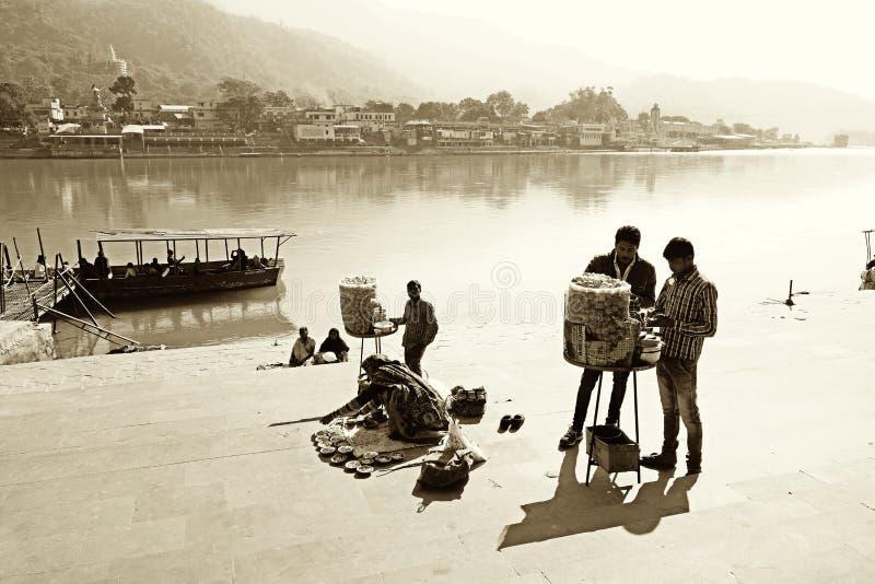 Image de vintage de port de ferry indien photographie stock