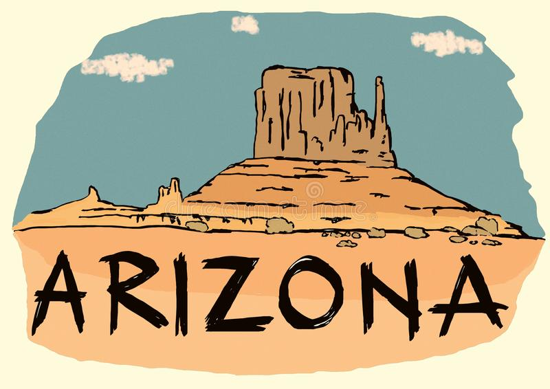 Image de vintage de l'Arizona illustration stock