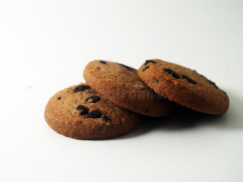 Delicious cookie in whit background royalty free stock photography