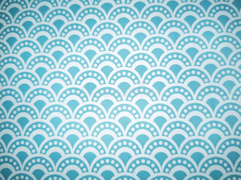Pattern background and fantasy wallpaper of blue and white arches stock photos