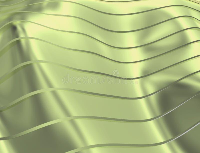 IMAGE DES COURBES ET DES LIGNES AU-DESSUS DE LA COULEUR DOUCE ET TRANSPARENTE VERDÂTRE illustration de vecteur
