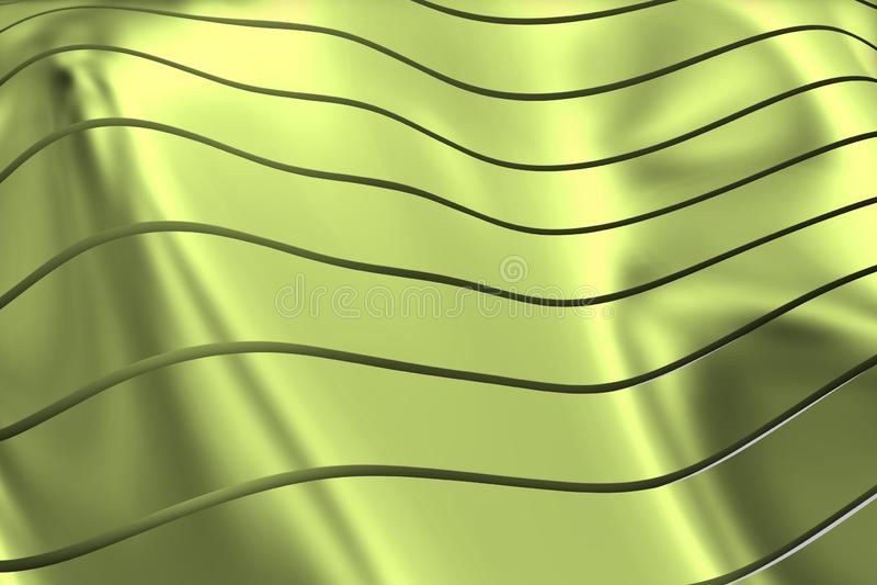 IMAGE DES COURBES ET DES LIGNES AU-DESSUS DE LA COULEUR DOUCE ET VERDÂTRE DE METALC illustration de vecteur