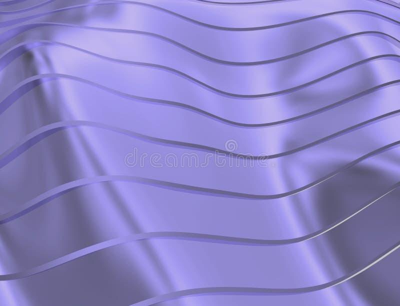 IMAGE DES COURBES ET DES LIGNES AU-DESSUS DE LA COULEUR TRANSPARENTE D'OR BLEUÂTRE illustration de vecteur