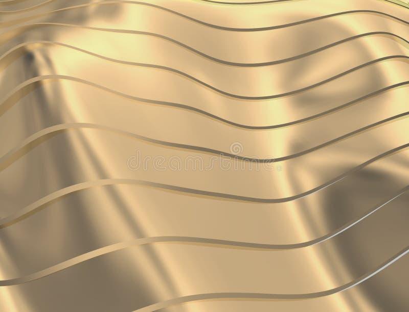 IMAGE DES COURBES ET DES LIGNES AU-DESSUS DE LA COULEUR TRANSPARENTE D'OR ROUGE illustration libre de droits
