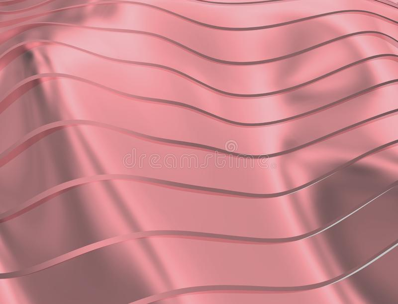 IMAGE DES COURBES ET DES LIGNES AU-DESSUS DU POURPRE ET DE LA COULEUR EN MÉTAL illustration de vecteur