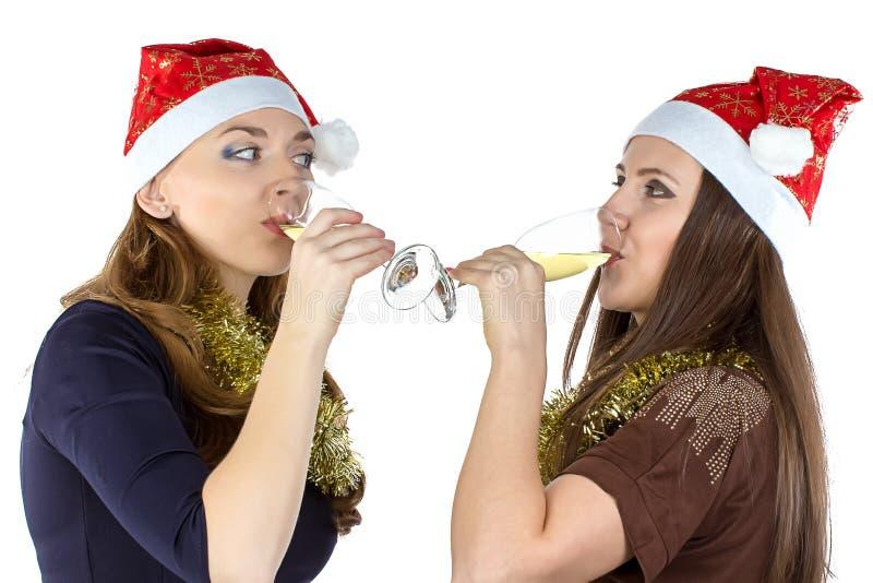 Image des femmes potables avec les verres photo libre de droits