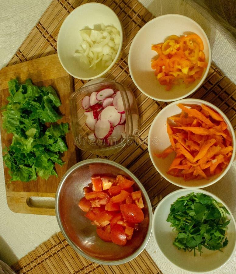 Image des ingrédients de salade photos libres de droits