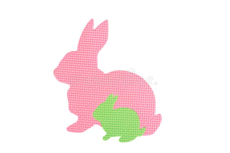 Image des lapins de jouet, d'isolement sur le fond blanc photos libres de droits