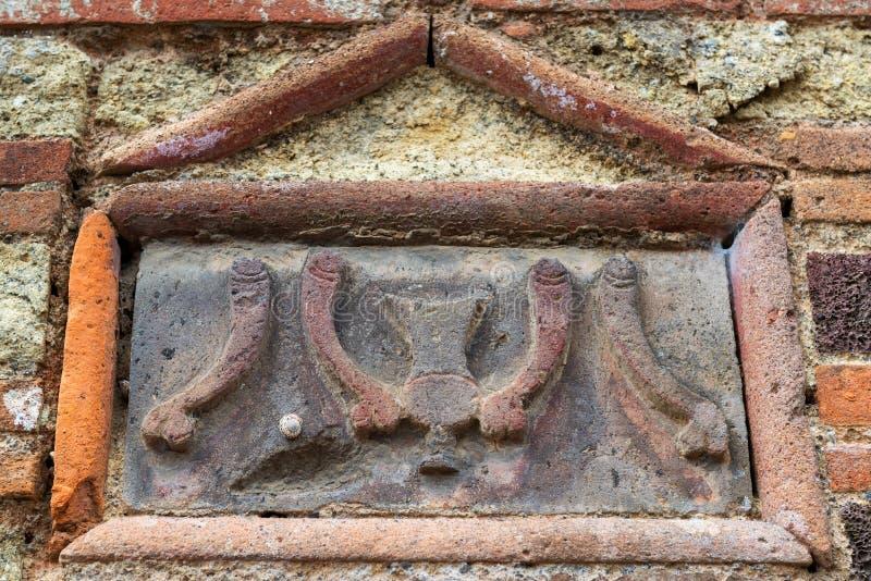 Image des phallus sur le mur du bordel à Pompeii, Italie photo stock