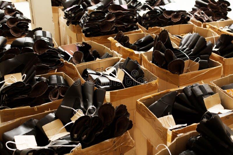 Image des préformations en caoutchouc pour la production de chaussure images stock