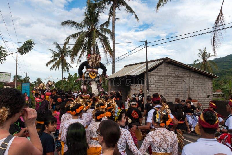 Image des statues d'Ogoh-ogoh chez Bali images libres de droits
