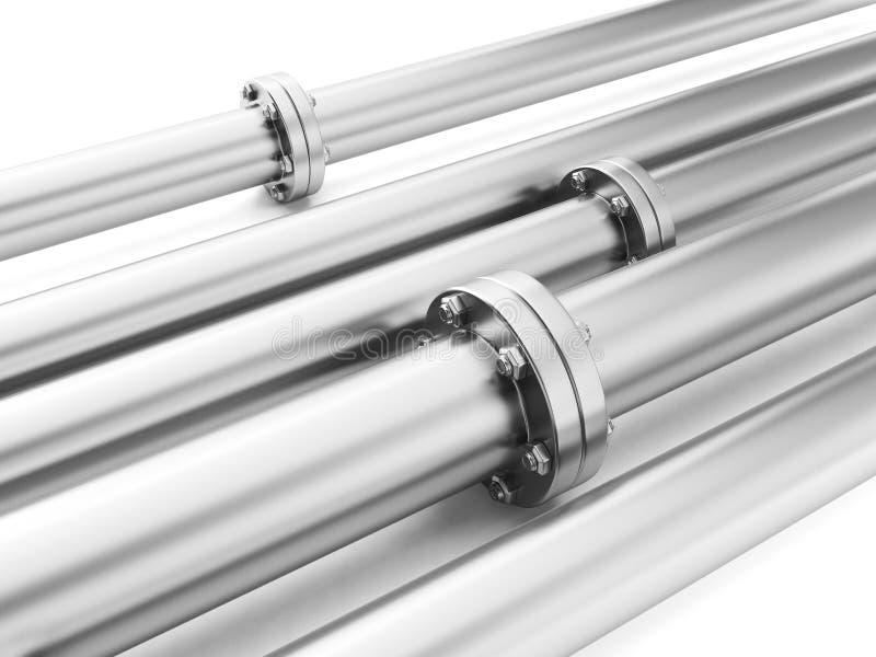 Image des tuyaux en métal illustration stock