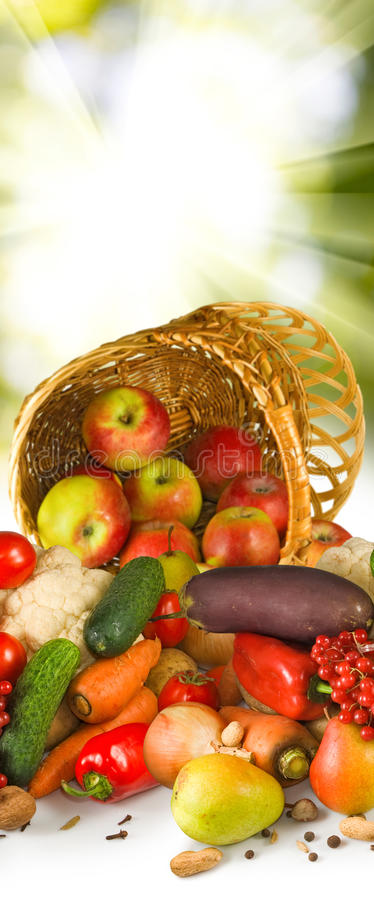 Image of different fruits in inverted basket closeup. Image of different fruits in inverted basket close-up stock images