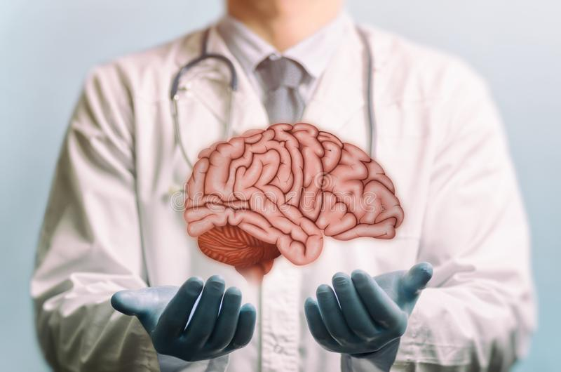 Treating of a brain. royalty free stock photos
