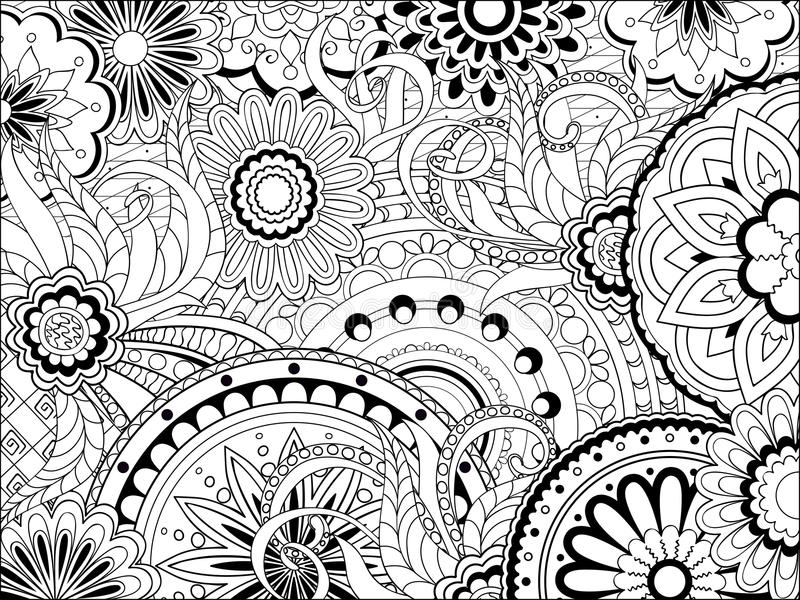 Image With Doodle Mandalas And