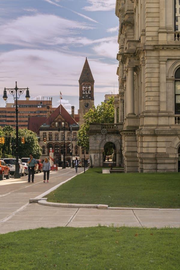 Image du centre d'Albany photo stock