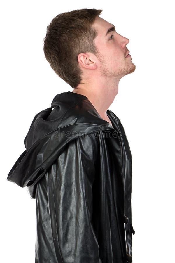 Image du jeune homme dans le profil photographie stock
