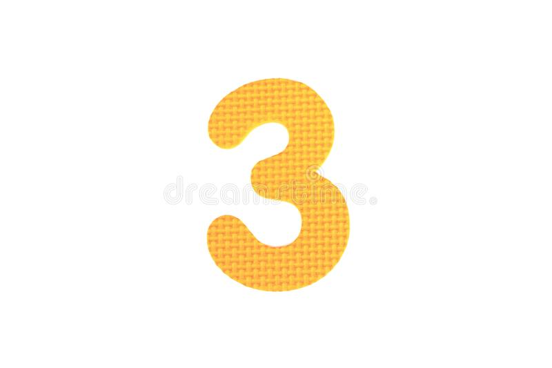 Image du numéro trois, d'isolement sur le fond blanc photo libre de droits